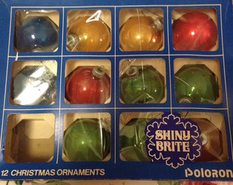 Vintage Shiny Brite Christmas Ornaments made by Poloron