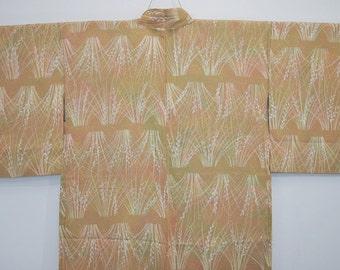 HAORI JACKET VINTAGE Silk - Traditional Autumn Grass - W66e