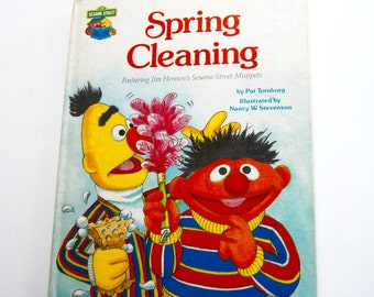 Vintage Children's Book, Spring Cleaning