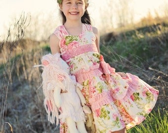 """SALE..Buy 2 get 1 free..""""Juliette""""....Sweetheart Neck Reverse Knot Girl's Tiered Dress Instant Download PDF Sewing Pattern,  Sz 6-12 M to 8"""
