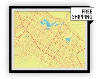 Fremont Map Print - Choose your color