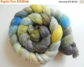 """Combed tops Shetland hand dyed """"Paridae"""", a Wollke7 from the Wollkenschloss"""