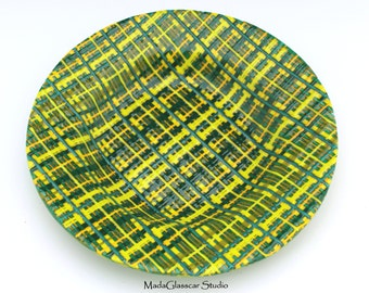 Erin Go Bragh Fused Glass Bowl