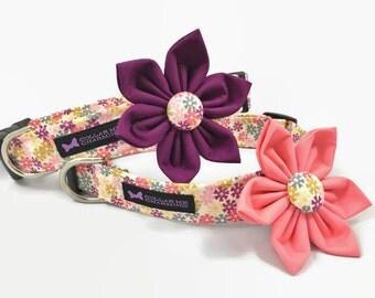 Dog Collar Flower Set Olivia