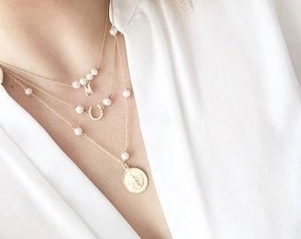 Gold-filled Necklaces, Sold Separately , 10%Off Set, Dainty Necklace, Charm Necklace, Initial Necklace