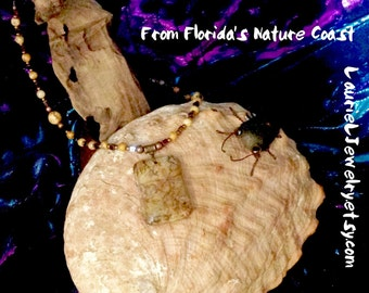 Picture Jasper Gemstone  Pendant Necklace from Florida's Nature Coast, Artist Made #S516p
