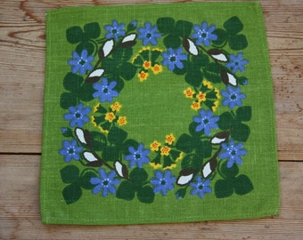 Lovely printed floral spring tablecloth  in linen from Sweden