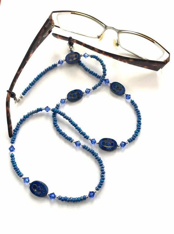 denim eyeglass chain glasses chain reading glasses