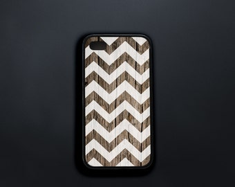 Wood Pattern iPhone 4s Case, Zig Zag iPhone 4 Case, White Chevron iPhone SE Case, Case for iPhone 4, iPhone 5c Case, iPhone 4 Cover