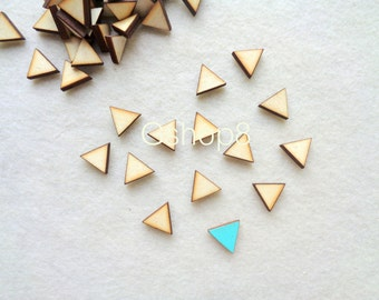 20 Unfinished Wood geometric Tiles for earrings, Wood cabochon