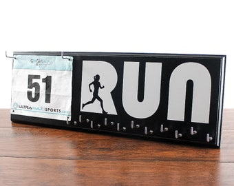 Race Medal Holder - Running Medal Holder and Race Bib Hanger running medal rack race bib and medal holder
