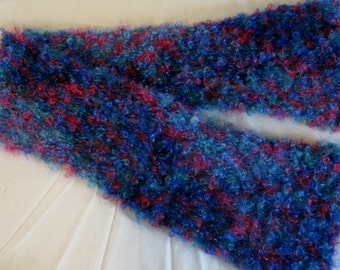 Hand Knit Loopy Mohair Scarf
