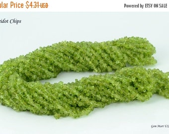 20% OFF Long 34 Inch Strand  Peridot Chips Loose Gemstone Beads . 34 inch Full Strand Wholesale Price (CHPD-70001)