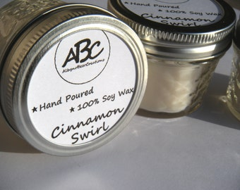Scented Soy Candle - Cinnamon Swirl