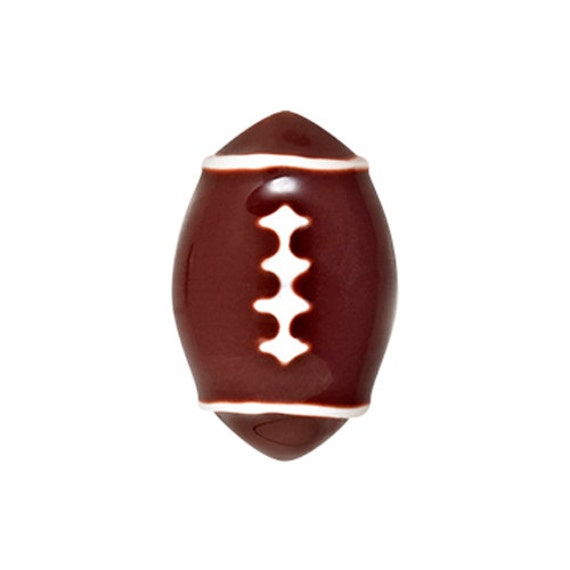 Football charm for  living lockets,  fits most lockets, DIY build a locket, living lockets, Jewelry supplies. Silver tone.