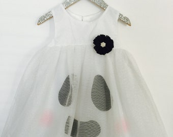 Little Friendly Ghost baby girl and little girl costume/ Halloween Dress