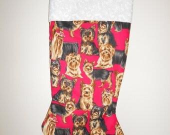 Yorkie Christmas stocking