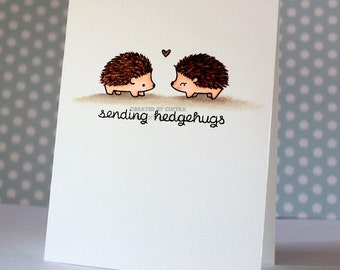 Sending Hedgehugs,Mother's Day Card,Hedgehog Mothers Day, Valentines Day Card, Cute Love You Card,Happy Birthday Card, Thinking of You Card