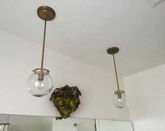 "Modern ""Gumball"" Chandelier - 1 Bulb - Number 3 MADE IN LA"
