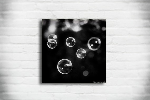 View In Gallery Wall Art In Black And White Accentuates The Color Scheme photo - 6