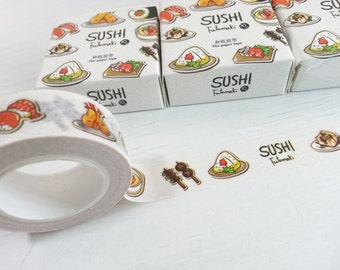 Japan Sushi Washi Tape - 1 Roll (15mm X 10M)