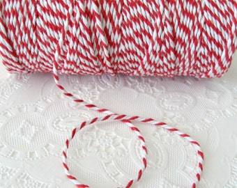100 Yard Spool Red and White Baker's Twine | Cotton Twine | Red Twine | Pretty Packaging