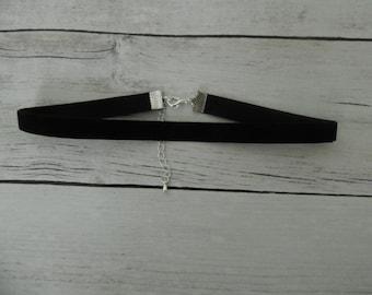 Black Velvet Choker, Plain Black Velvet Choker, Simple Velvet Choker, Black Choker Necklace,
