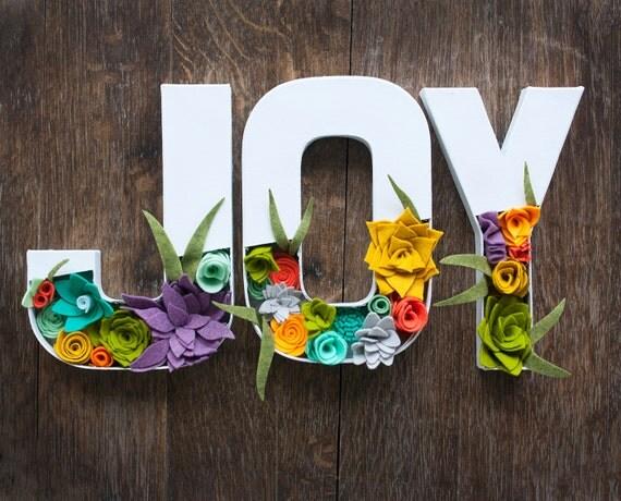 Felt Floral Letters -