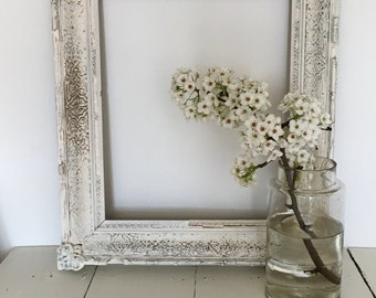 antique frame wood