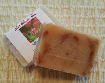 Two (2) Bars of Red Clover Goat Milk Soap