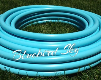 "Bluebird Sky Roll of 3/4"" or 5/8"" Colored PolyPro hula hoop tubing - Make your own hoops!  50 ft or 100 ft"