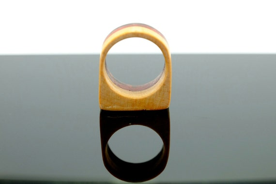 Multicoloured wooden ring