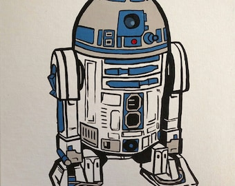 R2D2 hand painted *SALE*