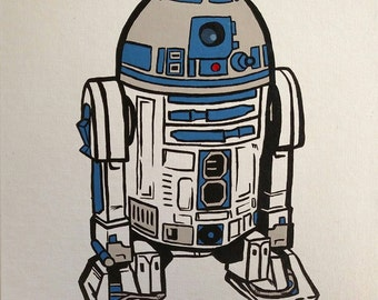 R2D2 hand painted