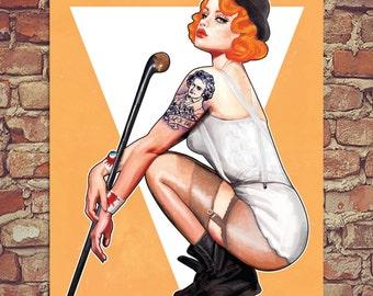 "Clockwork Orange Droog Pin Up Poster Print 12""x16"""