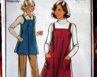 1981 Style sewing pattern ~ smock dress and pants maternity sewing pattern