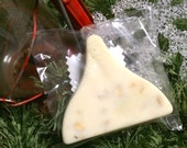Kiss shaped Goat's Milk Sweet Almond Oatmeal Soap Great for Christmas Stocking Stuffers Anti-bacterial