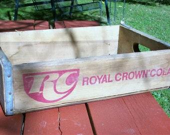 Vintage RC Royal Crown Cola Wood Bottle Crate