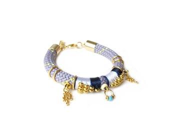 NEMEA - boho chic rope bracelet, ethnic bracelet, aztec bracelet, colorful bracelet, statement bracelet, arm candy, edgy bracelet, modern