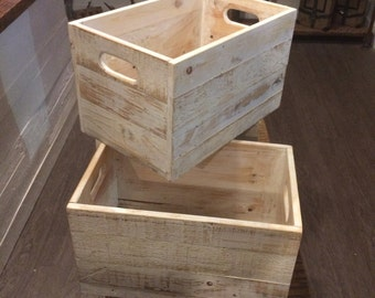 Reclaimed Crates ( White Washed)