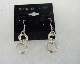 Sterling Silver 925 Dangling Pierced earring #7026