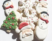 Santa and Snowman Christmas Cookies
