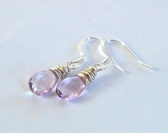 Sparkling Amethyst Earrings- Purple Gemstone Earrings- February Birthstone- Valentine's Day- Birthday
