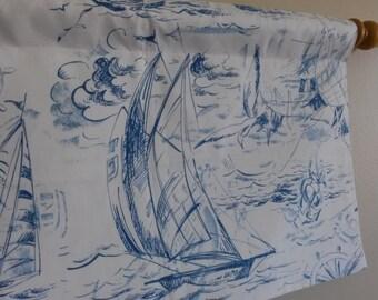 Sailboat Valance, Sailing Valance, Nautical Valance, Beach Valance, Boys Valance