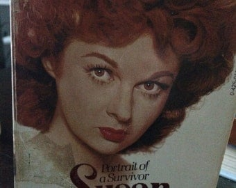 vintage paperback book, Portrait of a Survivor, Susan Hayward, by Beverly Linet, vintage Hollywood biography