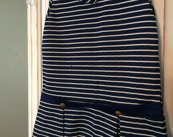 70s Sears brand, girls sailor dress, vintage children's clothing, girls dress