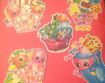 Shopkins Die Cuts Carts & Baskets qty 5