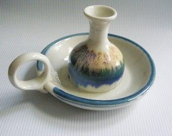 Vintage Ceramic Candlestick Holder