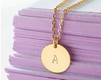 Personalized necklace, gold-filled
