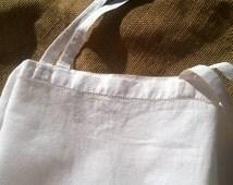 Victorian Plain White Cotton Dress Slip French Handmade Small Size